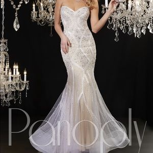 Panoply beaded strapless gown- worn once